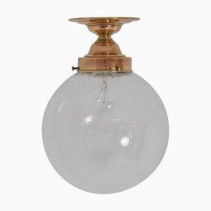 Lampada da soffitto Art Déco in ottone, anni '30