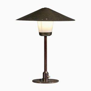 Lampada da tavolo in bronzo di Lyfa, Danimarca, anni '50