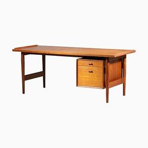 Large Scandinavian Single Pedestal Desk by Arne Vodder
