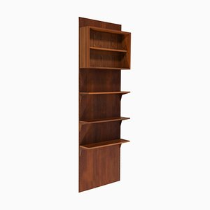 Danish Teak Wall Bookcase by Poul Cadovius, 1960s