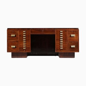 French Mahogany Desk in Style of Dupré Lafon, 1940s