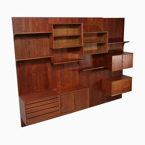 Large Danish Teak Wall Bookcase by Poul Cadovius