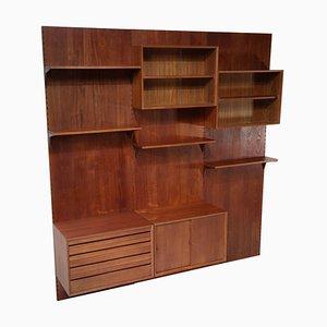 Großes dänisches Bücherregal aus Teak von Poul Cadovius, F139