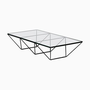 Italian Glass and Metal Coffee Table by Paolo Piva for B&B Italia