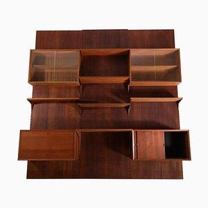 Großes dänisches Bücherregal aus Teak von Poul Cadovius