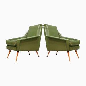 Green Spirit Lounge Chairs, 1950s, Set of 2