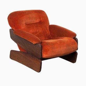 Low Orange Armchair