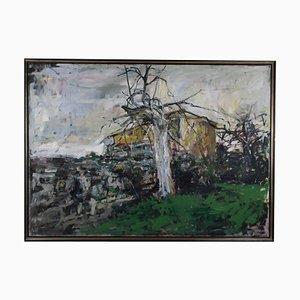 Eugeniusz Wisniewski, Landschaft, Öl auf Leinwand, 1959