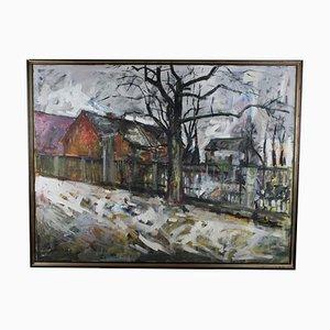 Eugeniusz Wisniewski, Landschaft, Oil on Canvas, 1959