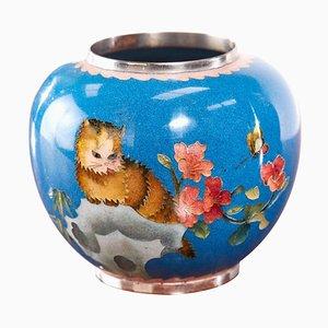 Antike chinesische Cloisonne Miniaturvase