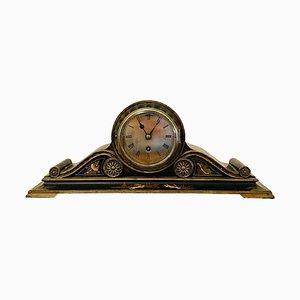 Orologio da camino antico in stile cinese laccato