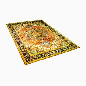 Large Vintage Green Middle Eastern Carpet