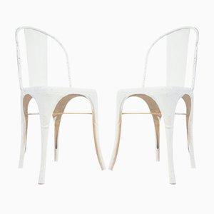 Weiße Modell A Stühle von Tolix, 1930er, 2er Set