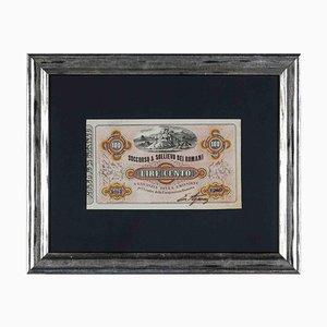 Unknown, Old Debit Receipt, Original Etching, Early 20th-Century