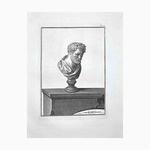 Bernardino Nolli, Ancient Roman Bust, Etching, Late 18th-Century