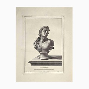 Nicola Fiorillo, Busto romano antiguo, Grabado, finales del siglo XVIII
