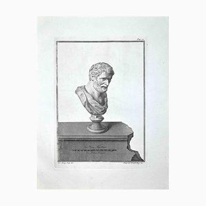 Filippo De Grado, Ancient Roman Bust, Etching, Late 18th-Century