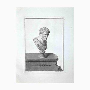 Filippo De Grado, antiguo busto romano, aguafuerte, finales del siglo XVIII