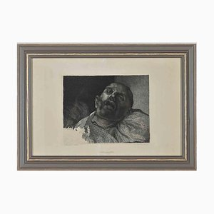 The Pleaded, Original Black & White Etching in the Style of Théodore Géricault, 1866