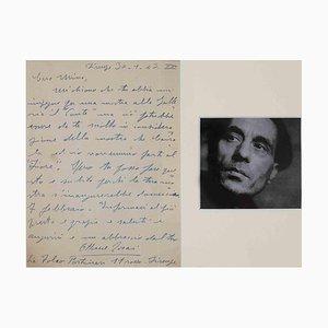 Unbekannt, Autogramm Brief von Ottone Rosai an Mino Maccari, 1943