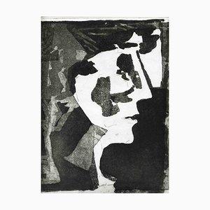 Unbekannt, The Face, Original Radierung und Aquatinta, Mitte des 20. Jh