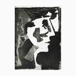 Unknown, The Face, Original Etching and Aquatint, Mid-20th-Century