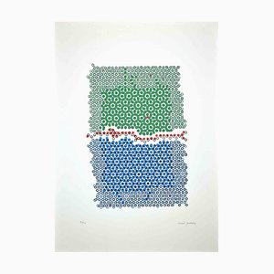Mario Padovan, Composizione astratta, Serigrafia originale, 1977