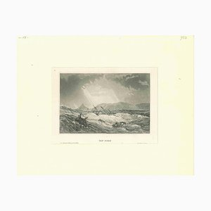 Unknown, Ancient View of Cap Horn, Original Lithograph, Early 19th-Century