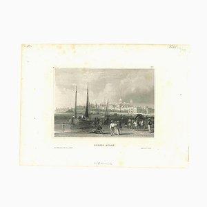 Unbekannt, Antike Ansicht von Buenos Aires, Original Lithographie, Frühes 19. Jh