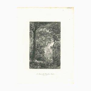 Unbekannt, Im brasilianischen Wald, Original Lithographie, frühes 19. Jh