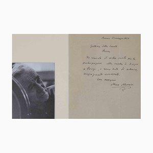 Unbekannt, Autogramm Brief von Mino Maccari, 1937