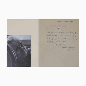 Unknown, Autograph Letter Signed by Mino Maccari, 1937