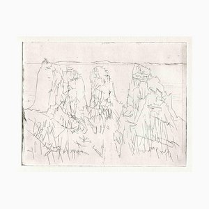Unknown, Composition, Original Etching and Drypoint, Mid-20th-Century