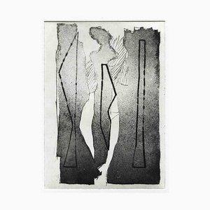 Unbekannt, Figur, Original Radierung und Kaltnadel, Mitte 20. Jh