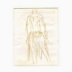 Unknown, Figures, Original Etching and Drypoint, Mid-20th-Century