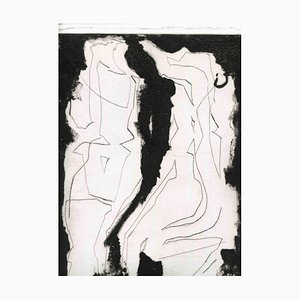 Unbekannt, Figuren, Original Radierung und Kaltnadel, Mitte 20. Jh