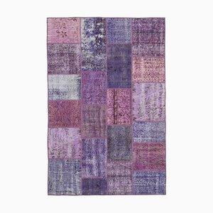 Tappeto patchwork viola