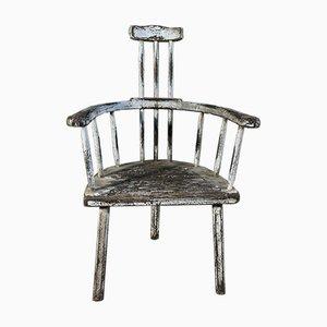 Welsh Three Legged Stick Back Primitive Chair