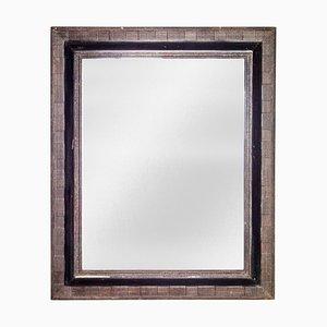 Specchio Regency neoclassico in legno intagliato a mano, anni '70