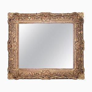 Specchio Impero rettangolare in legno intagliato a mano, Spagna, anni '70