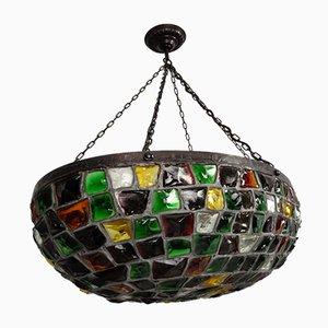 Große deutsche Jugendstil Deckenlampe