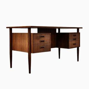 Mid-Century Freestanding Teak Desk by Arne Vodder for Sibast, 1960s