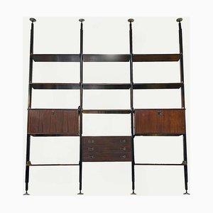 Mid-Century Modern Italian Three-Bay Bookcase from Stildomus, 1960s