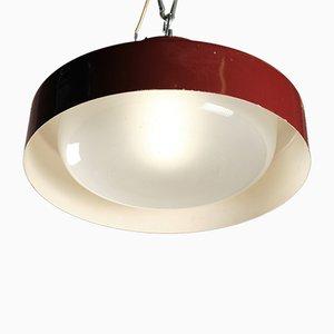 Modell 3053 Deckenlampen aus Aluminium und Glas von Gino Sarfatti für Arteluce, 1960er, 2er Set