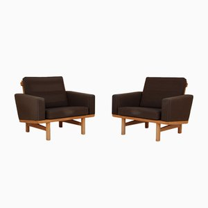 Modell 36 Stühle aus Eiche & Wolle von Hans J, Wegner, 2er Set