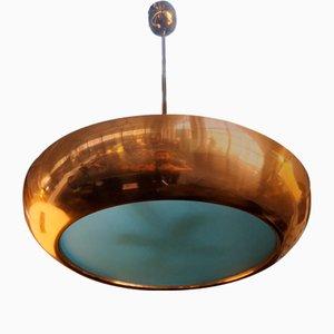 Copper Pendant Lamp by Vladimir Havel for Napako Praha, 1930s