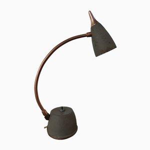Atomic Era Metal Green Enameled Eagle Hi Lite Goose Neck Desk Lamp from Underwriters Laboratories, USA, 1950s