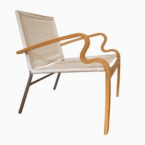 Poltrona Bjärred vintage in legno curvato di Johan Huldt per Ikea