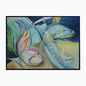 Lucio Esposito, Policromia # 1, Öl auf Leinwand