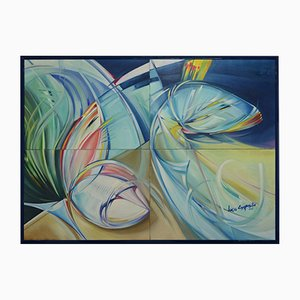 Lucio Esposito, Policromia #1, Oil on Canvas